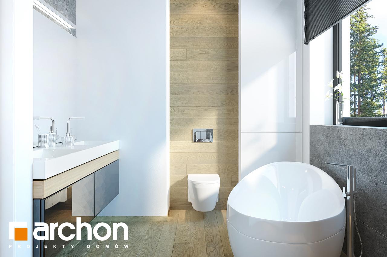 Проект будинку ARCHON+ Будинок під софорою візуалізація ванни (візуалізація 3 від 2)