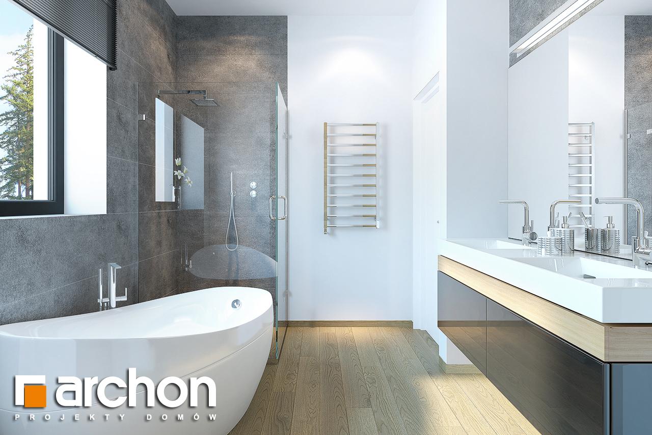 Проект будинку ARCHON+ Будинок під софорою візуалізація ванни (візуалізація 3 від 3)