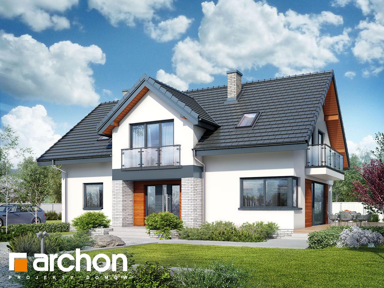 Проект будинку ARCHON+ Будинок під софорою Вид 2
