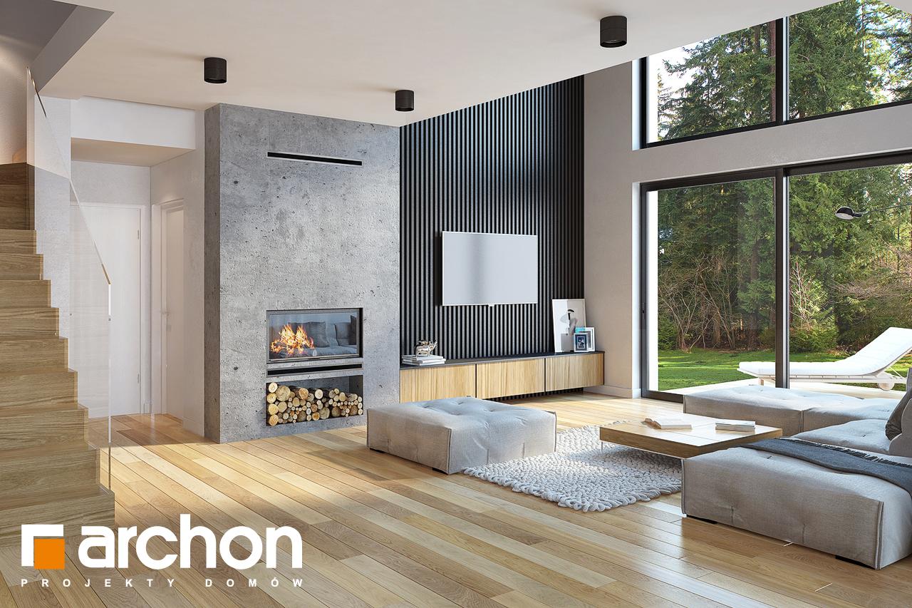 Проект будинку ARCHON+ Будинок під софорою денна зона (візуалізація 1 від 1)