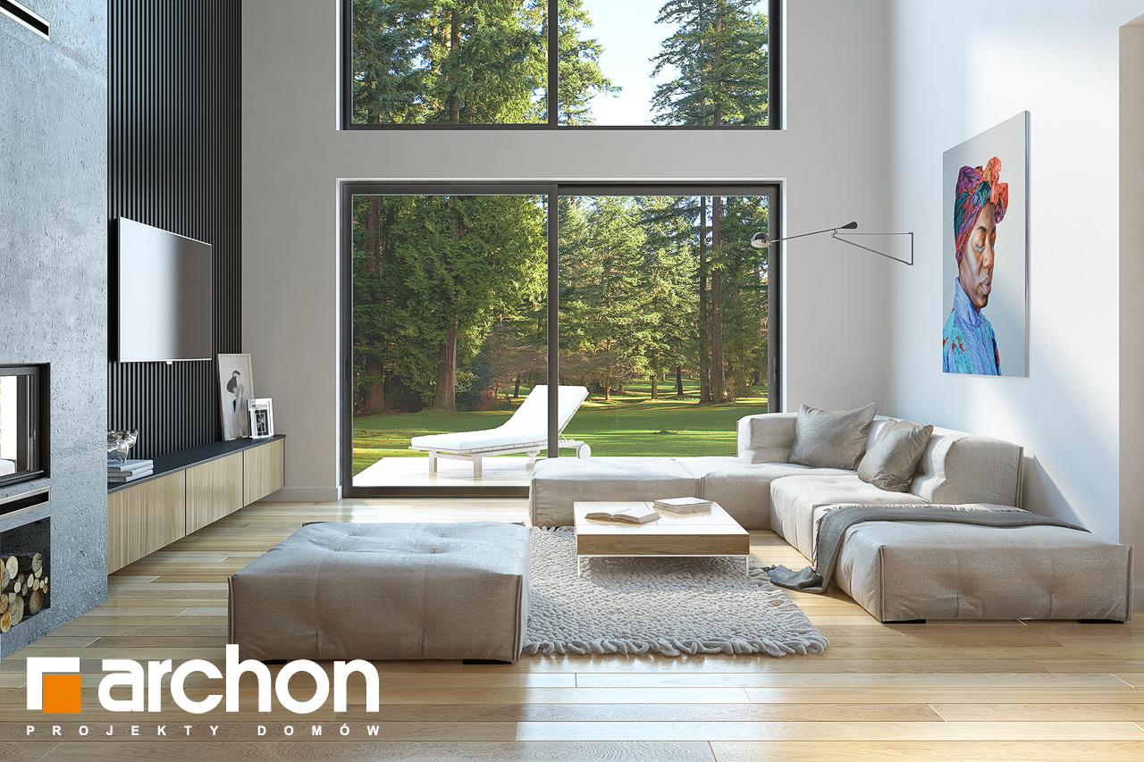 Проект будинку ARCHON+ Будинок під софорою денна зона (візуалізація 1 від 2)