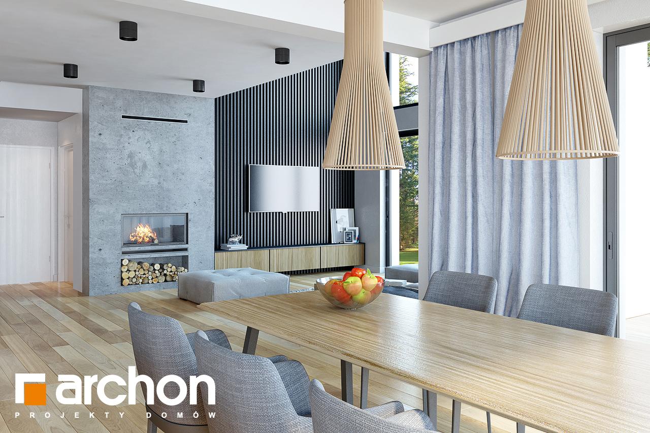 Проект будинку ARCHON+ Будинок під софорою денна зона (візуалізація 1 від 4)