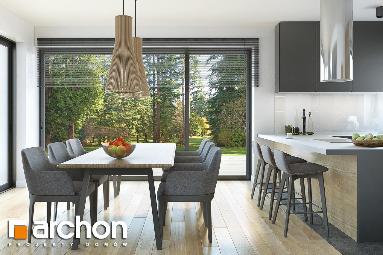 Проект будинку ARCHON+ Будинок під софорою денна зона (візуалізація 1 від 5)