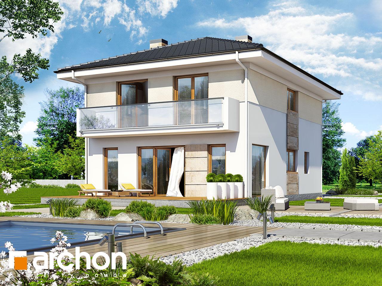 Проект будинку ARCHON+ Вілла Юлія 2 Вид 2