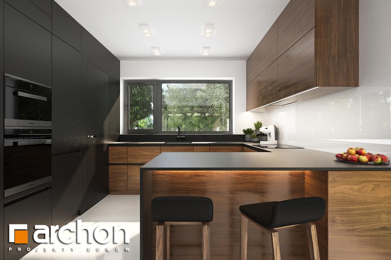 Проект будинку ARCHON+ Будинок в альбіціях (Г2) візуалізація кухні 1 від 1