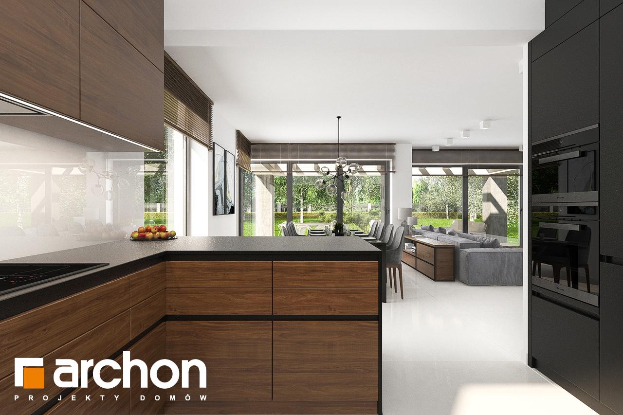 Проект будинку ARCHON+ Будинок в альбіціях (Г2) візуалізація кухні 1 від 2