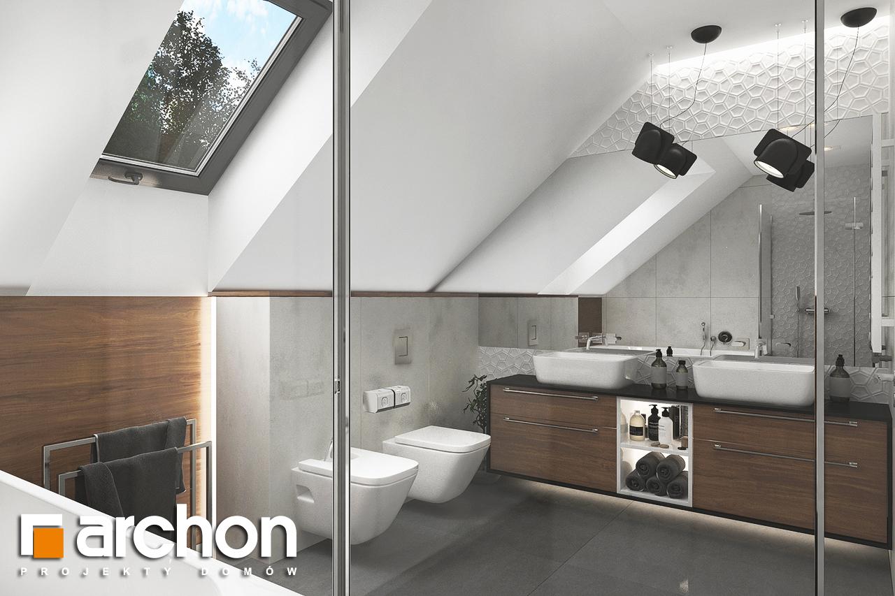 Проект будинку ARCHON+ Будинок в альбіціях (Г2) візуалізація ванни (візуалізація 3 від 3)