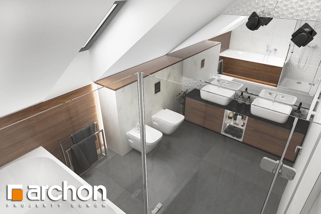 Проект будинку ARCHON+ Будинок в альбіціях (Г2) візуалізація ванни (візуалізація 3 від 4)