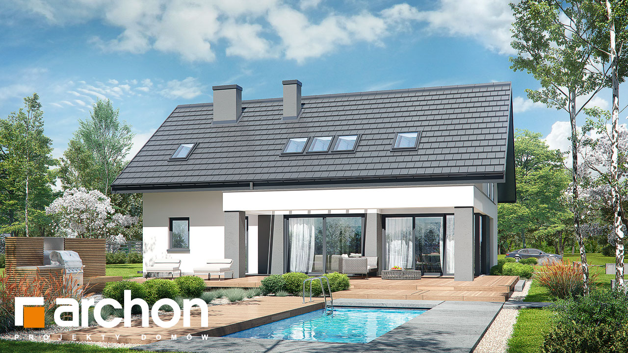 Проект будинку ARCHON+ Будинок в альбіціях (Г2) Вид 2
