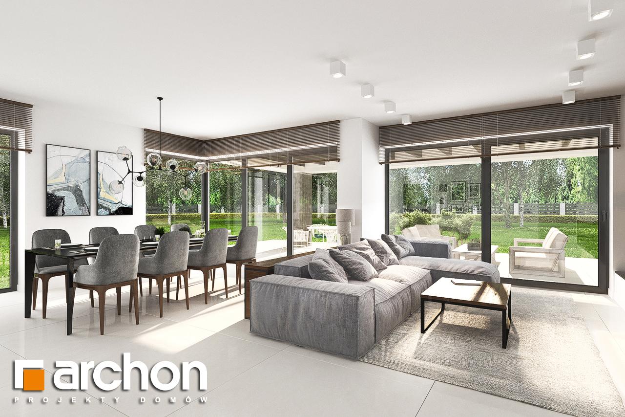 Проект будинку ARCHON+ Будинок в альбіціях (Г2) денна зона (візуалізація 1 від 2)