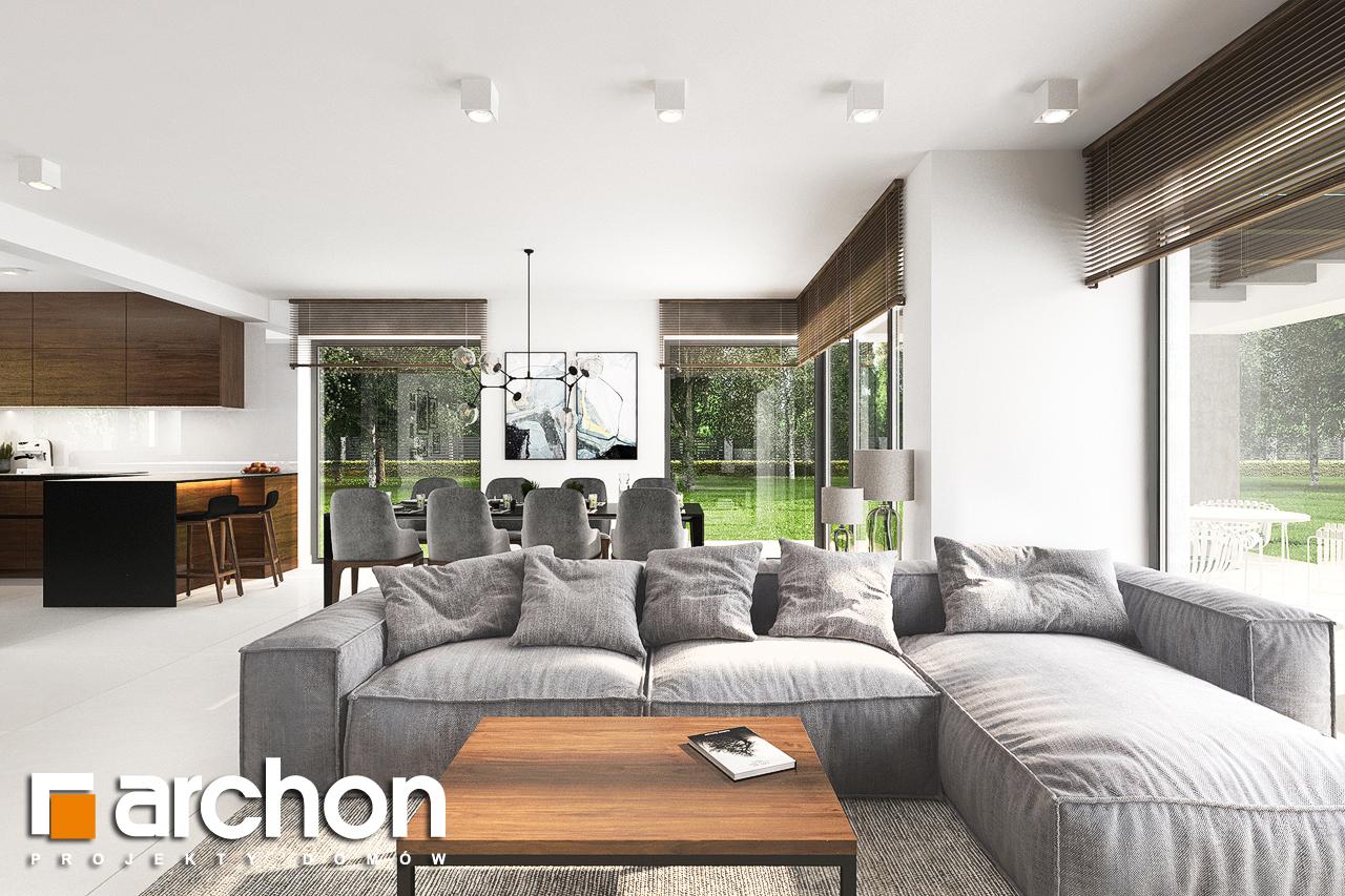 Проект будинку ARCHON+ Будинок в альбіціях (Г2) денна зона (візуалізація 1 від 3)