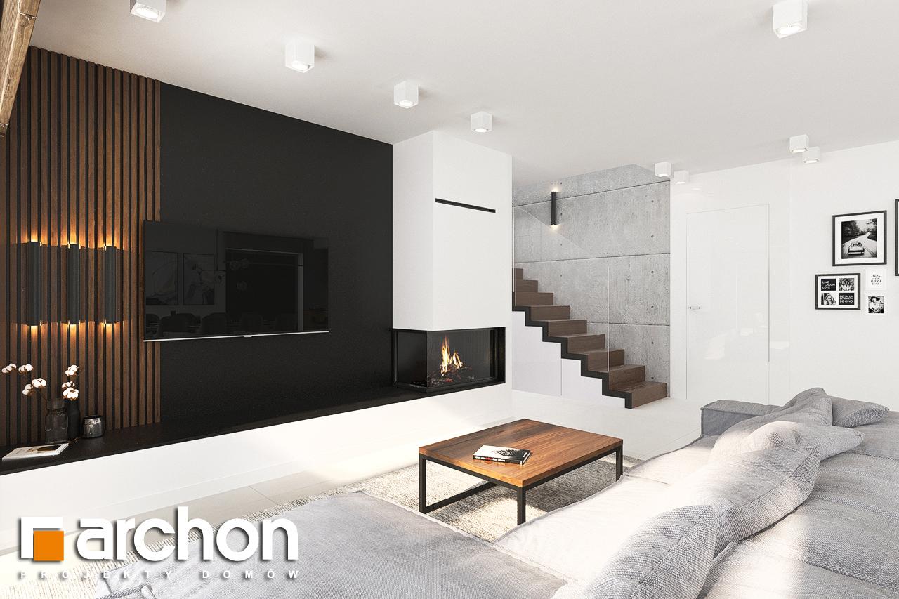 Проект будинку ARCHON+ Будинок в альбіціях (Г2) денна зона (візуалізація 1 від 6)