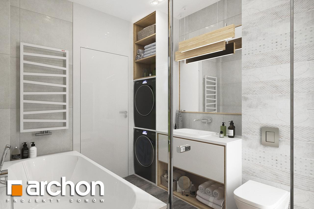 Проект будинку ARCHON+ Будинок у вівсянниці 6 візуалізація ванни (візуалізація 3 від 3)