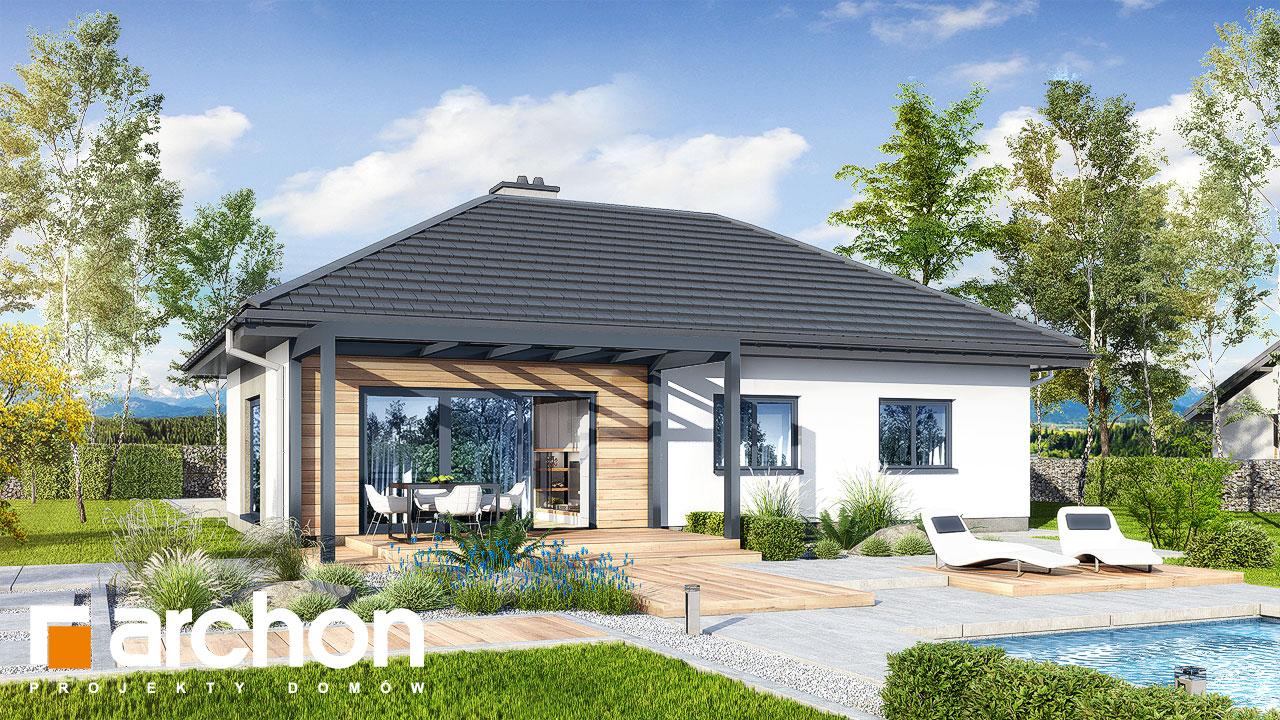 Проект будинку ARCHON+ Будинок у вівсянниці 6 Вид 2