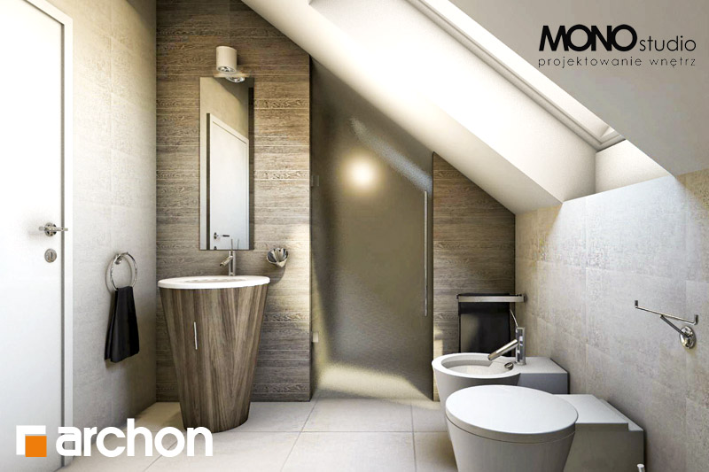 Проект будинку ARCHON+ Будинок в каллатеях 4 візуалізація ванни (візуалізація 3 від 1)
