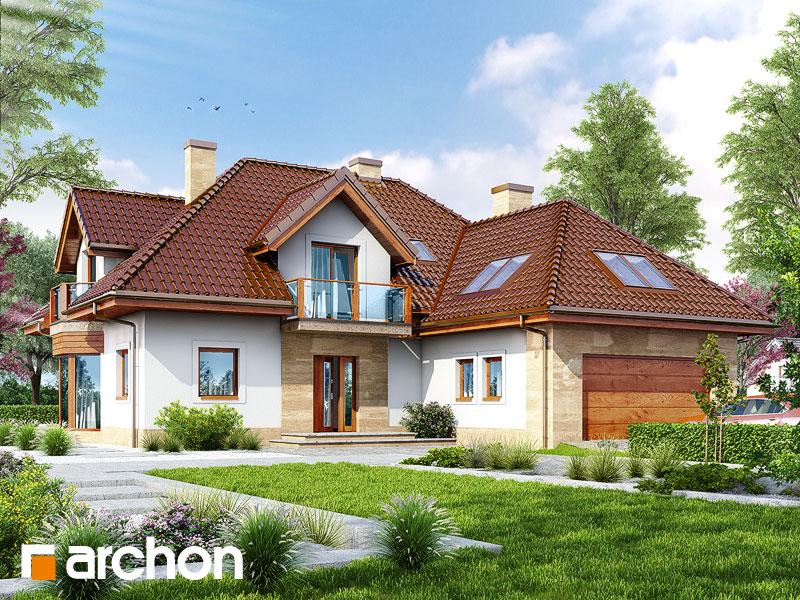 Проект будинку ARCHON+ Будинок в жоржині Вид 1