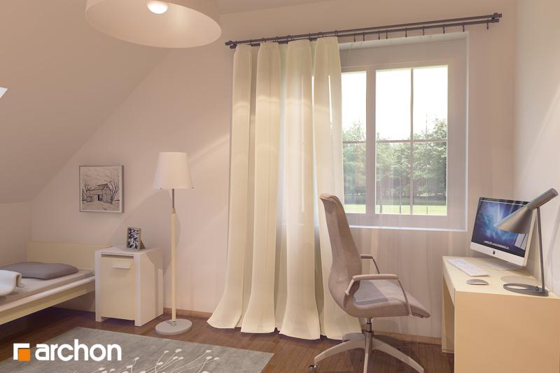 Проект будинку ARCHON+ Будинок в рододендронах 6 (Г2П) нічна зона (візуалізація 1 від 3)