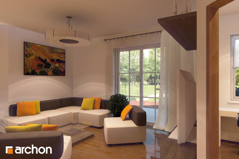 Проект будинку ARCHON+ Будинок в рододендронах 6 (Г2П) денна зона (візуалізація 2 від 1)
