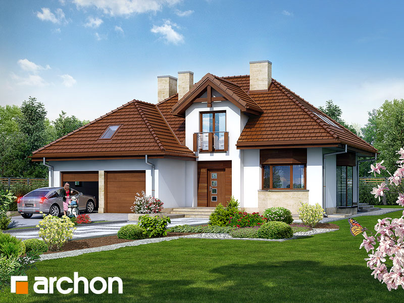 Проект будинку ARCHON+ Будинок в калатеях 2 (П) Вид 1