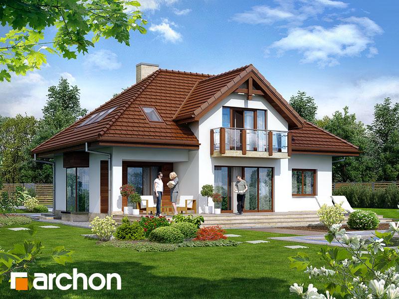 Проект будинку ARCHON+ Будинок в калатеях 2 (П) Вид 2