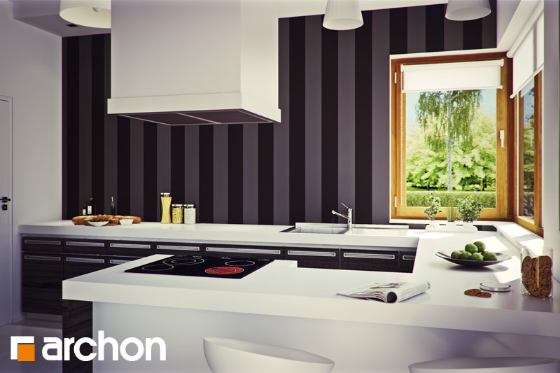 Проект будинку ARCHON+ Вілла Вероніка 3 візуалізація кухні 1 від 1