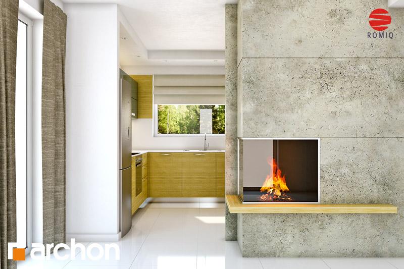 Проект будинку ARCHON+ Будинок Мініатюрка (Н) аранжування кухні 1 від 3