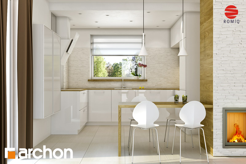 Проект будинку ARCHON+ Будинок Мініатюрка (Н) аранжування кухні 2 від 1
