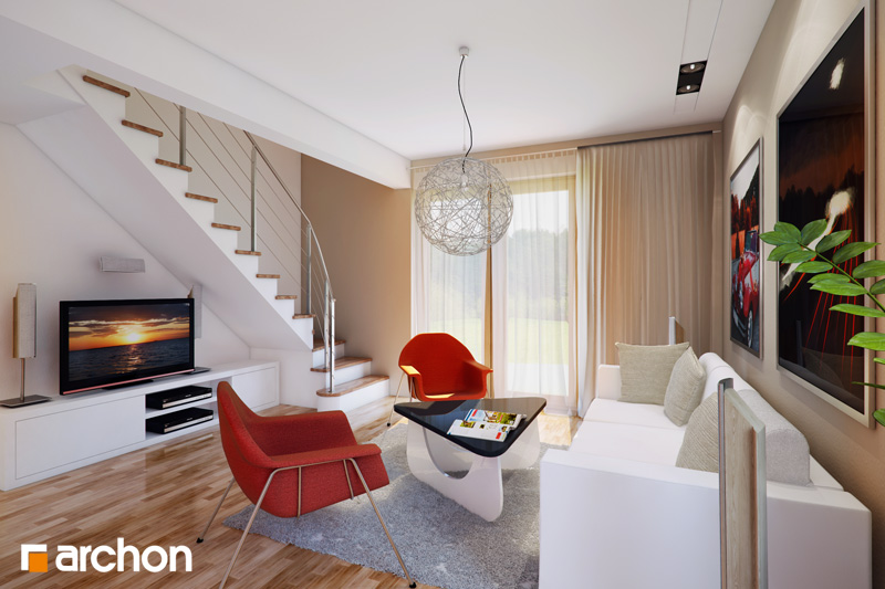 Проект будинку ARCHON+ Будинок Мініатюрка (Н) денна зона (візуалізація 1 від 1)