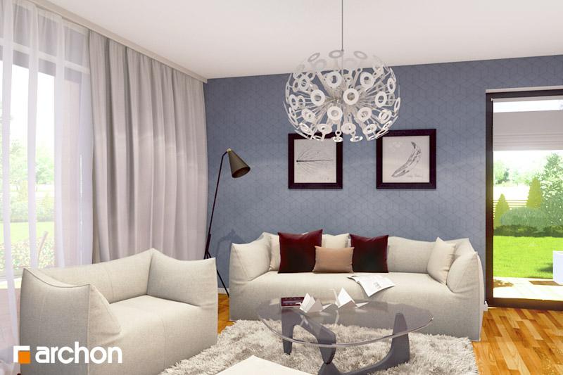 Проект будинку ARCHON+ Будинок Мініатюрка (Н) денна зона (візуалізація 2 від 1)