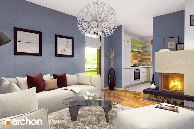 Проект будинку ARCHON+ Будинок Мініатюрка (Н) денна зона (візуалізація 2 від 2)