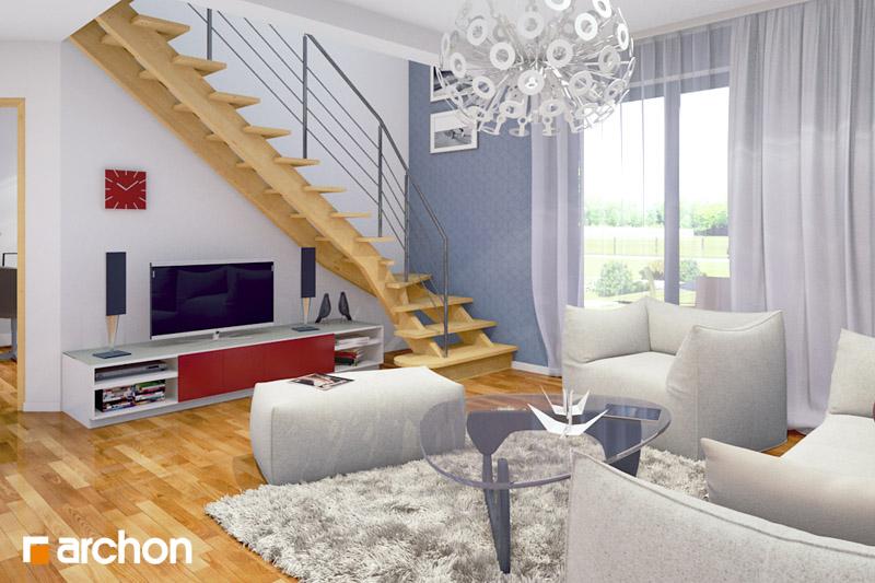 Проект будинку ARCHON+ Будинок Мініатюрка (Н) денна зона (візуалізація 2 від 3)