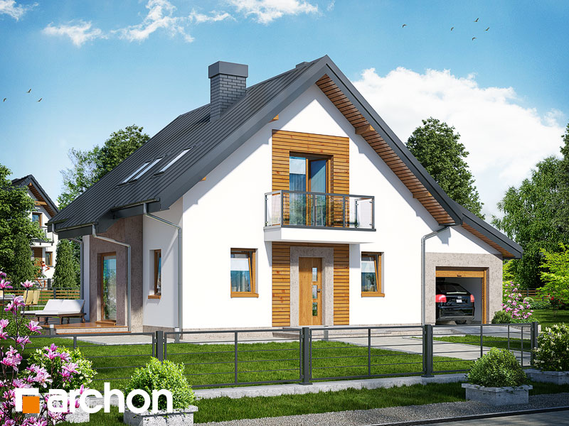 Проект будинку ARCHON+ Будинок в рододендронах 4 (H) Вид 1
