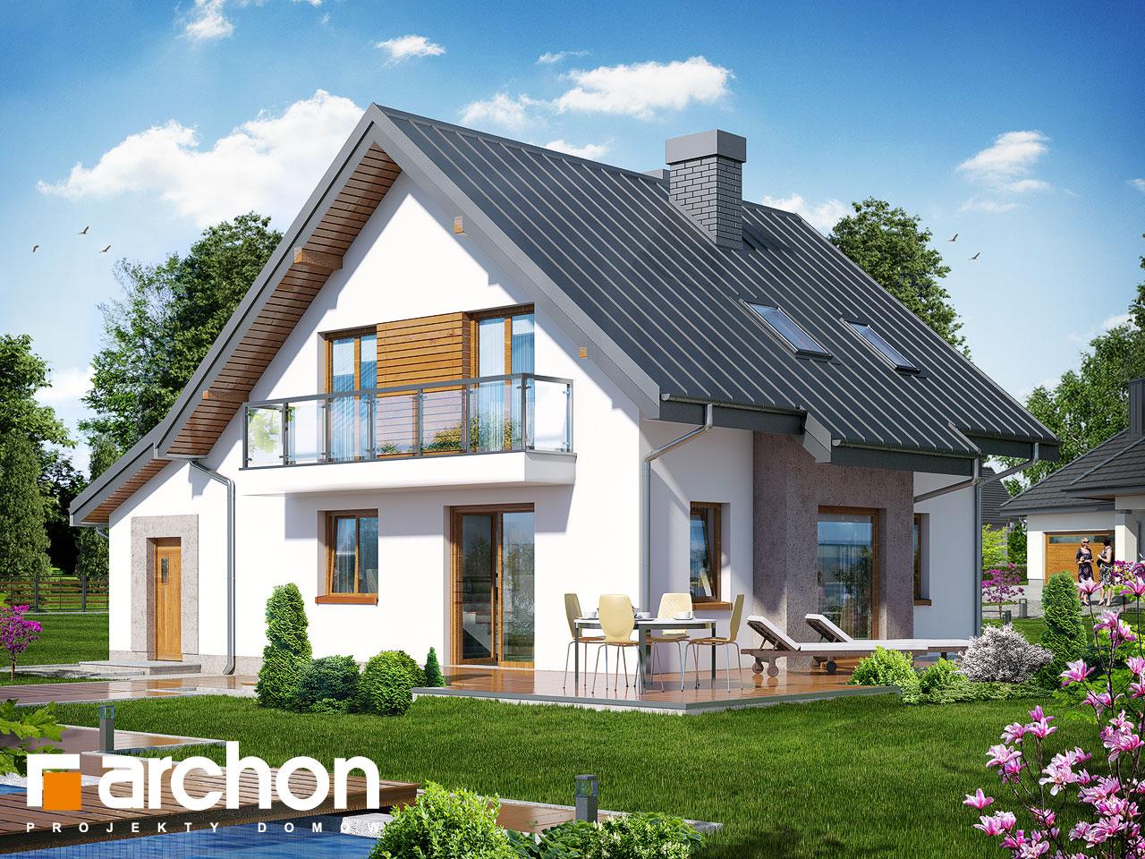 Проект дома ARCHON+ Дом в рододендронах 4 (H) Вид 2