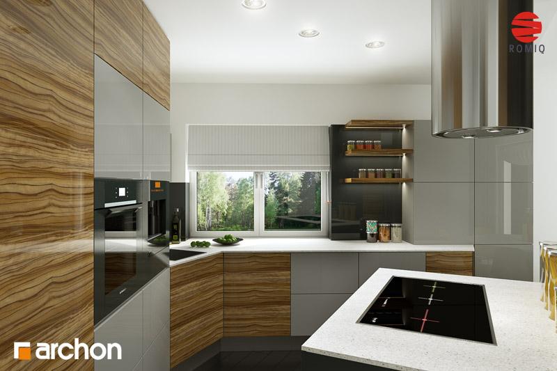 Проект дома ARCHON+ Дом в вистерии аранжировка кухни 1 вид 1