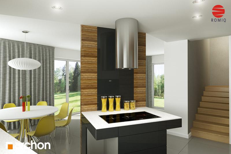 Проект дома ARCHON+ Дом в вистерии аранжировка кухни 1 вид 2