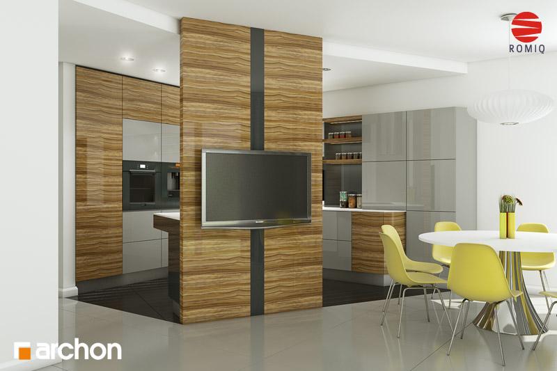 Проект дома ARCHON+ Дом в вистерии аранжировка кухни 1 вид 3