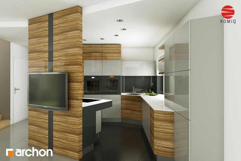 Проект дома ARCHON+ Дом в вистерии аранжировка кухни 1 вид 4