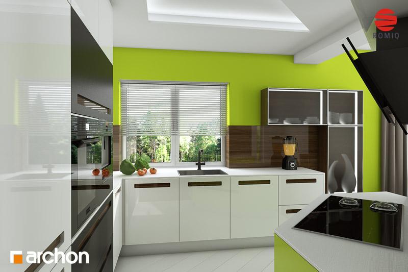 Проект дома ARCHON+ Дом в вистерии аранжировка кухни 2 вид 1