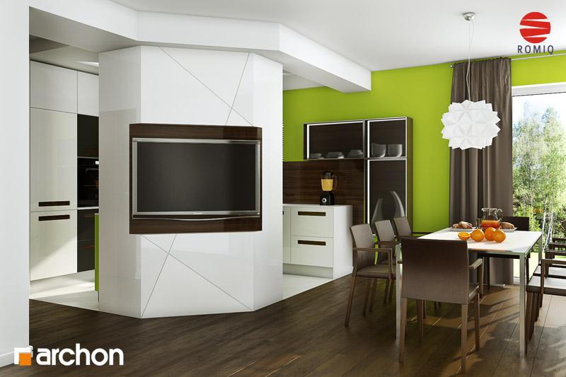 Проект дома ARCHON+ Дом в вистерии аранжировка кухни 2 вид 3