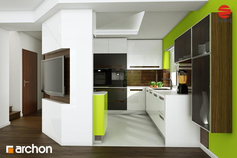 Проект дома ARCHON+ Дом в вистерии аранжировка кухни 2 вид 4