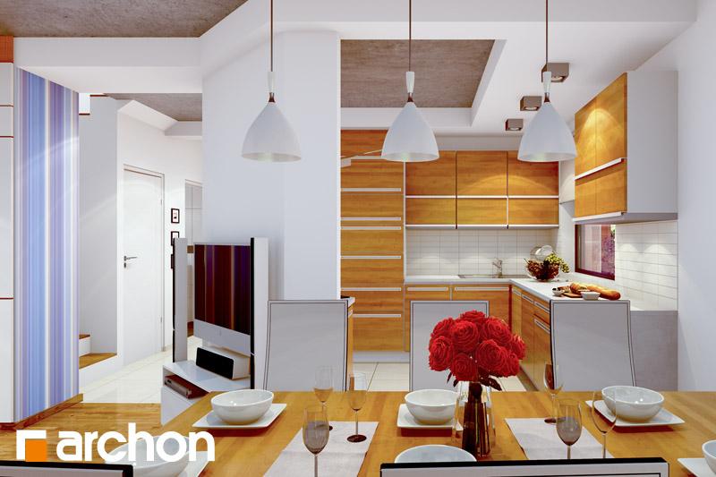 Проект дома ARCHON+ Дом в вистерии визуализация кухни 1 вид 1