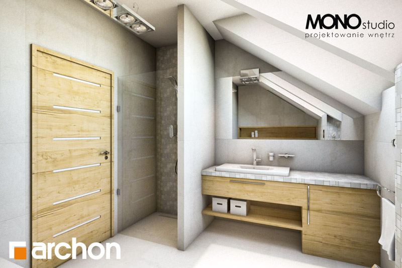 Проект дома ARCHON+ Дом в вистерии визуализация ванной (визуализация 1 вид 1)