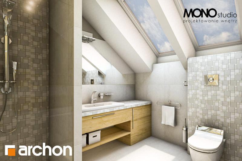 Проект дома ARCHON+ Дом в вистерии визуализация ванной (визуализация 1 вид 2)