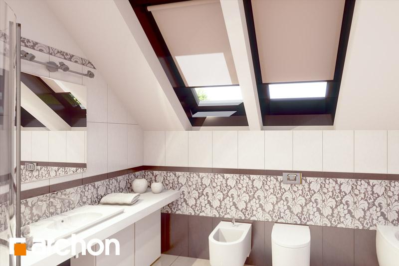 Проект дома ARCHON+ Дом в вистерии визуализация ванной (визуализация 3 вид 1)