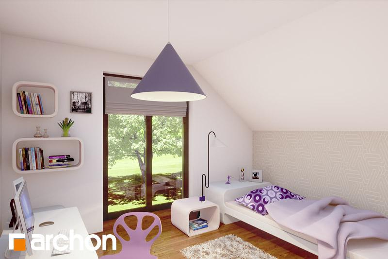 Проект дома ARCHON+ Дом в вистерии ночная зона (визуализация 1 вид 1)