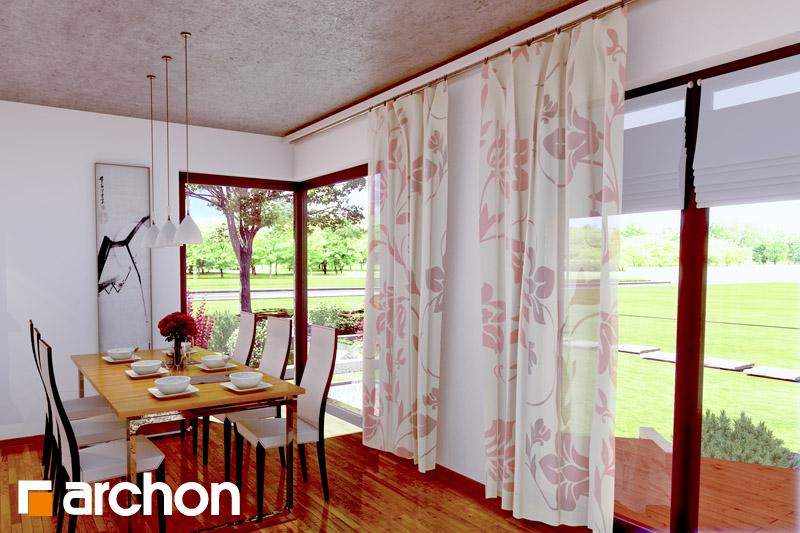 Проект дома ARCHON+ Дом в вистерии дневная зона (визуализация 2 вид 2)