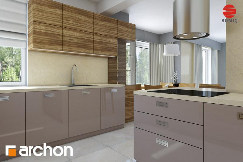 Проект будинку ARCHON+ Будинок в руколі (Г2H) аранжування кухні 1 від 3