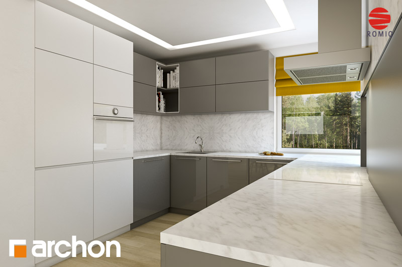 Проект будинку ARCHON+ Будинок в руколі (Г2H) аранжування кухні 2 від 2