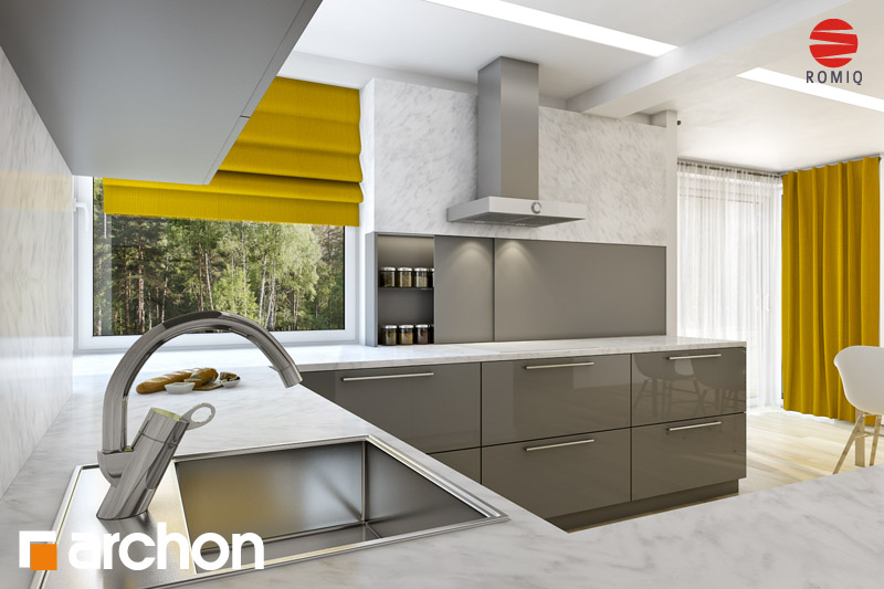 Проект будинку ARCHON+ Будинок в руколі (Г2H) аранжування кухні 2 від 3