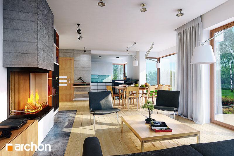 Проект будинку ARCHON+ Будинок в руколі (Г2H) денна зона (візуалізація 1 від 1)